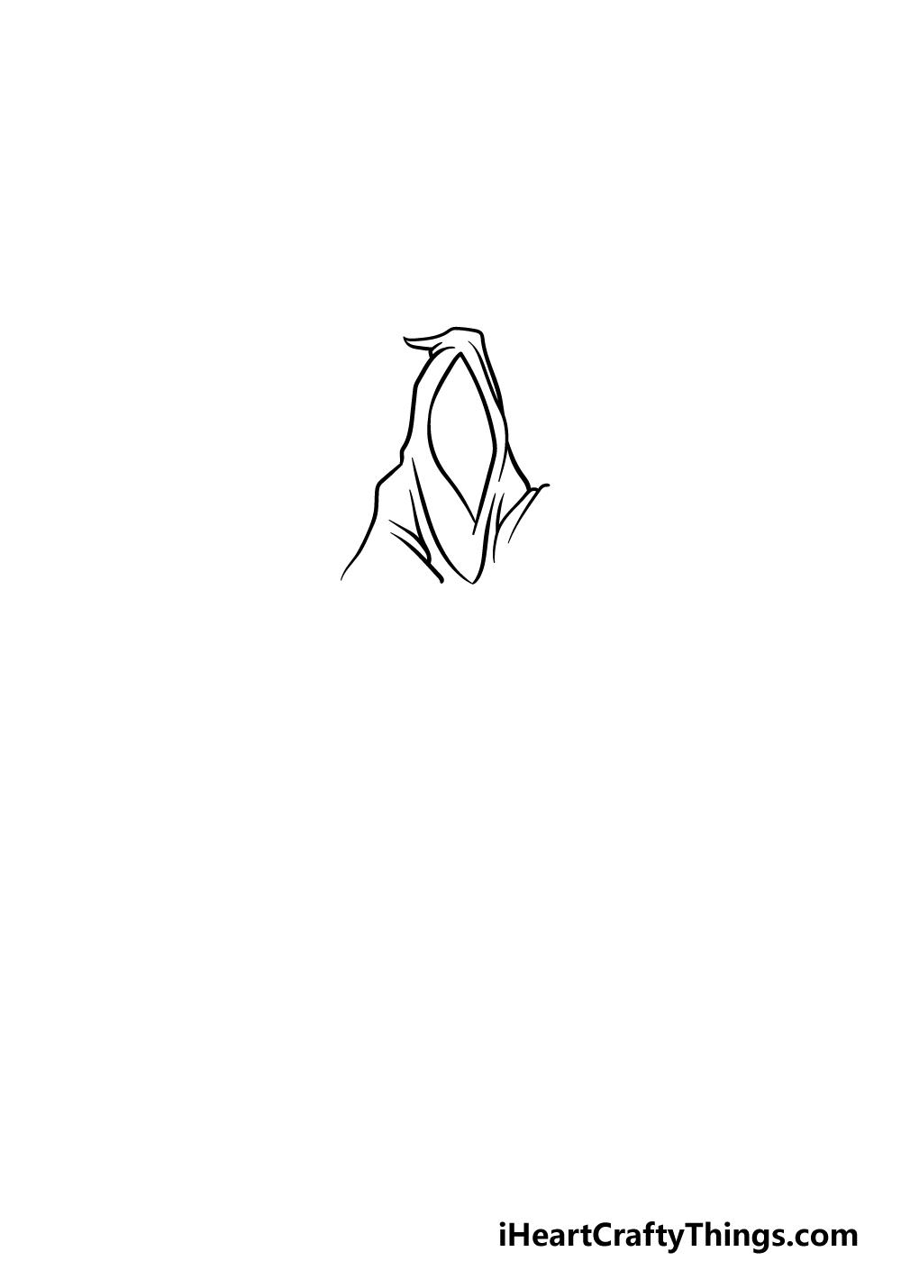 drawing grim reaper step 2