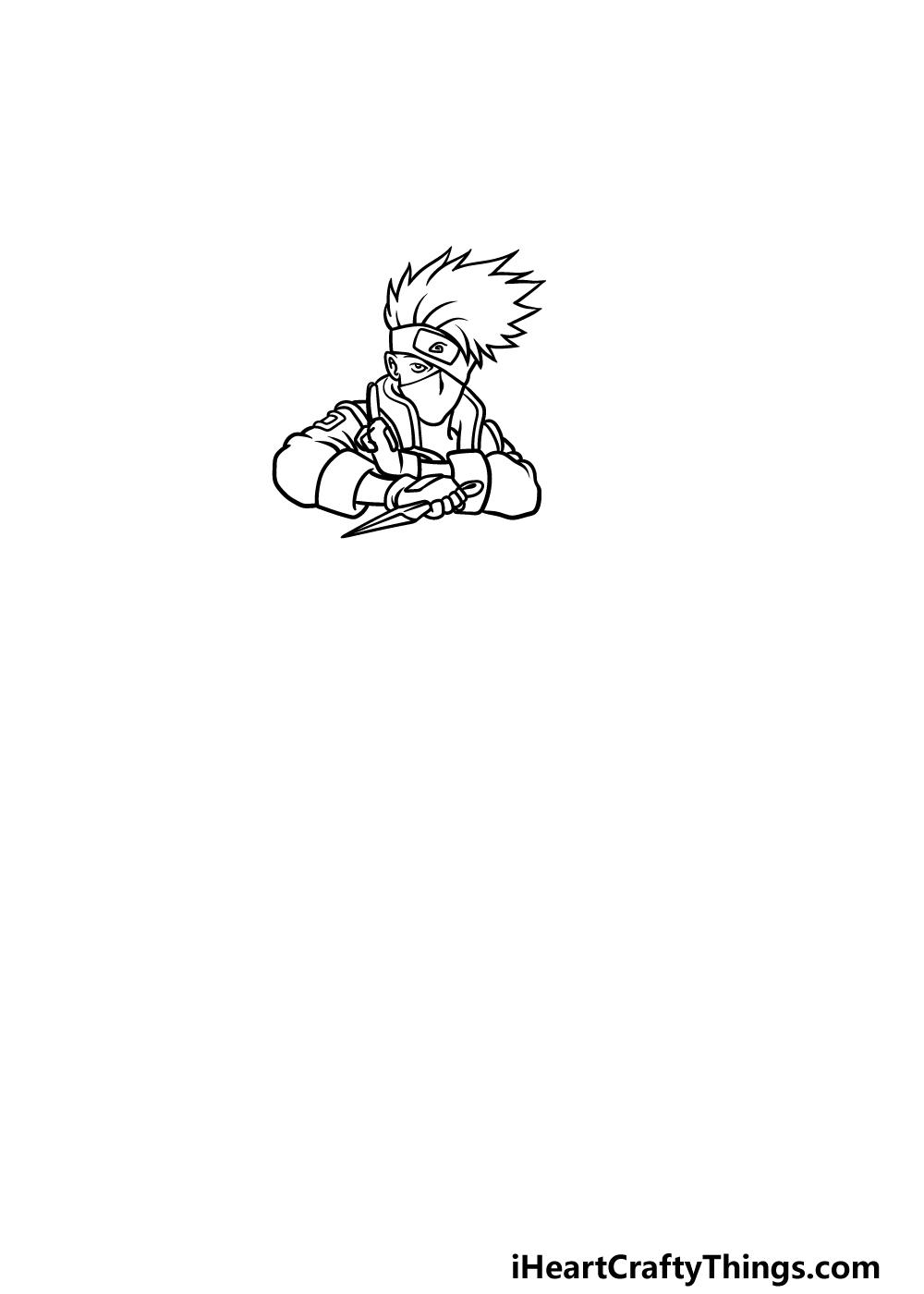 Drawing Kakashi step 2