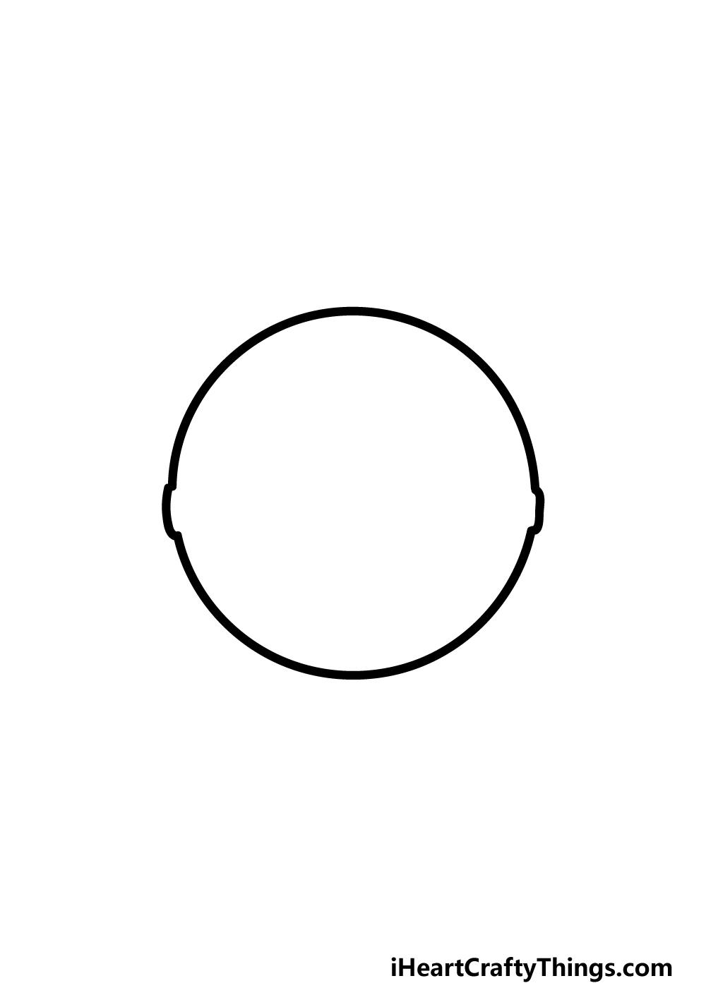 drawing pokeball step 2