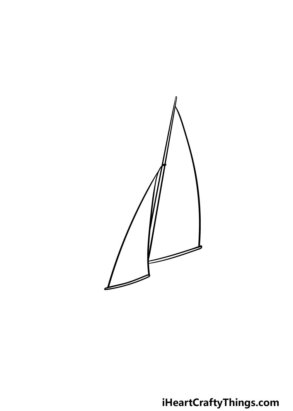 drawing a sailboat step 2
