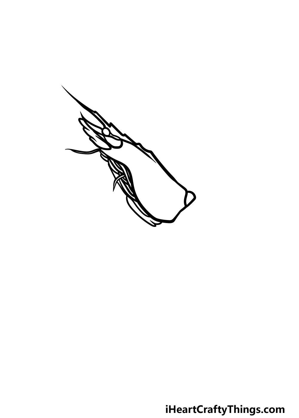 drawing a shrimp step 2