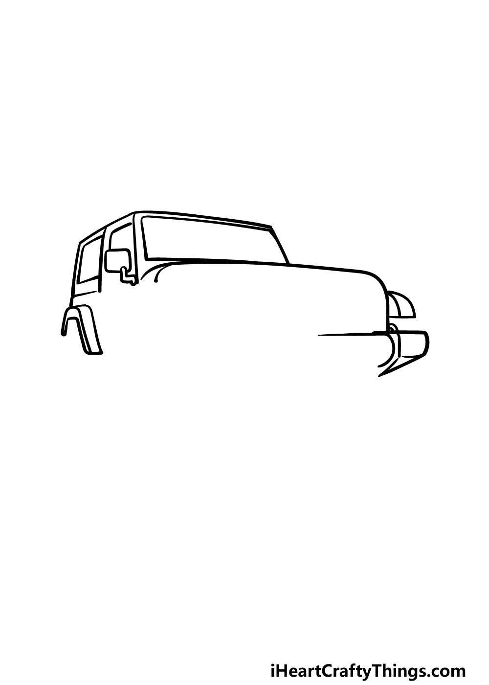 drawing a jeep step 3