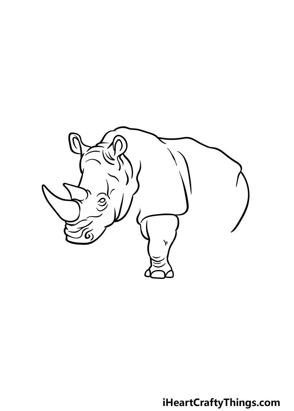 drawing a rhino step 3