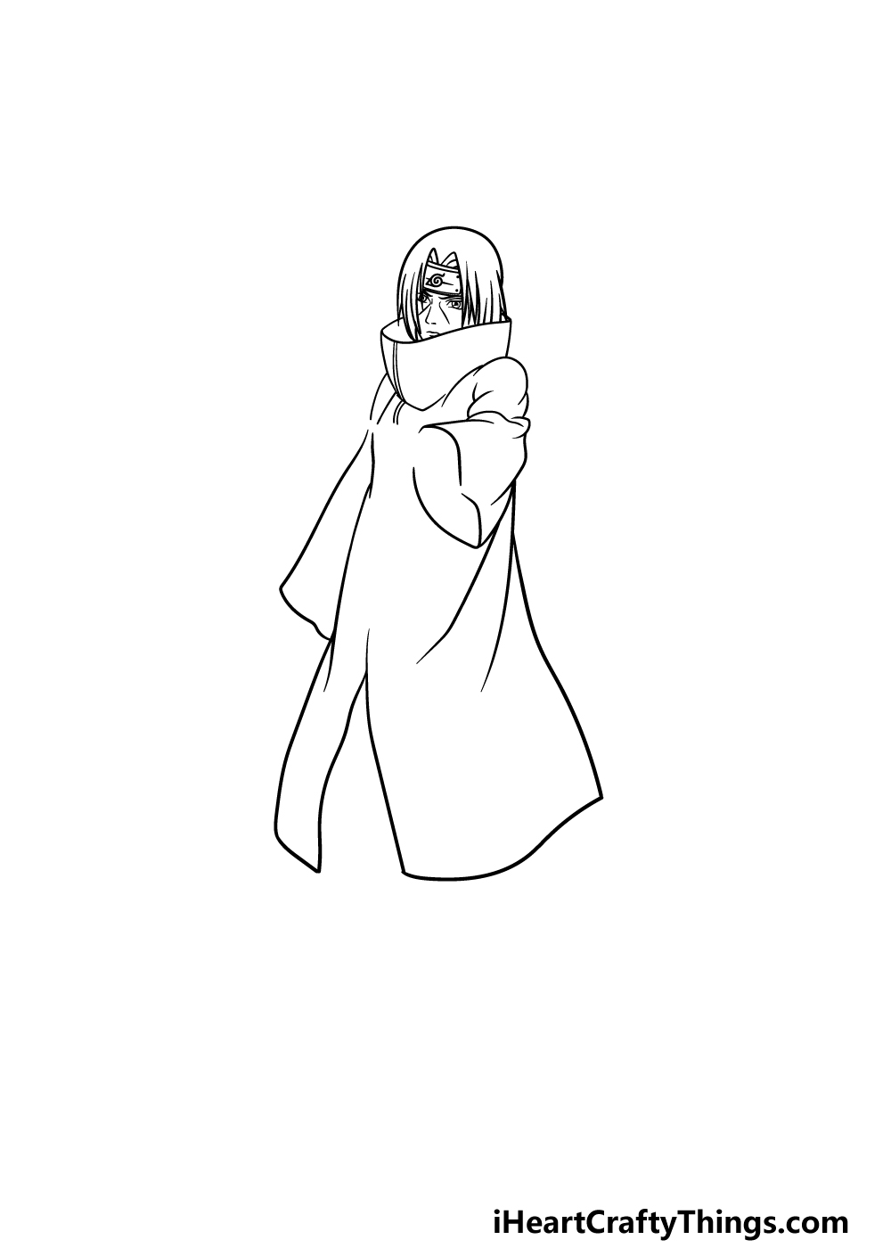 drawing Itachi step 3