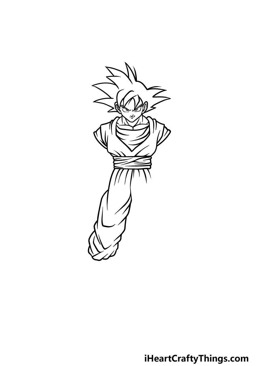 drawing Goku step 3