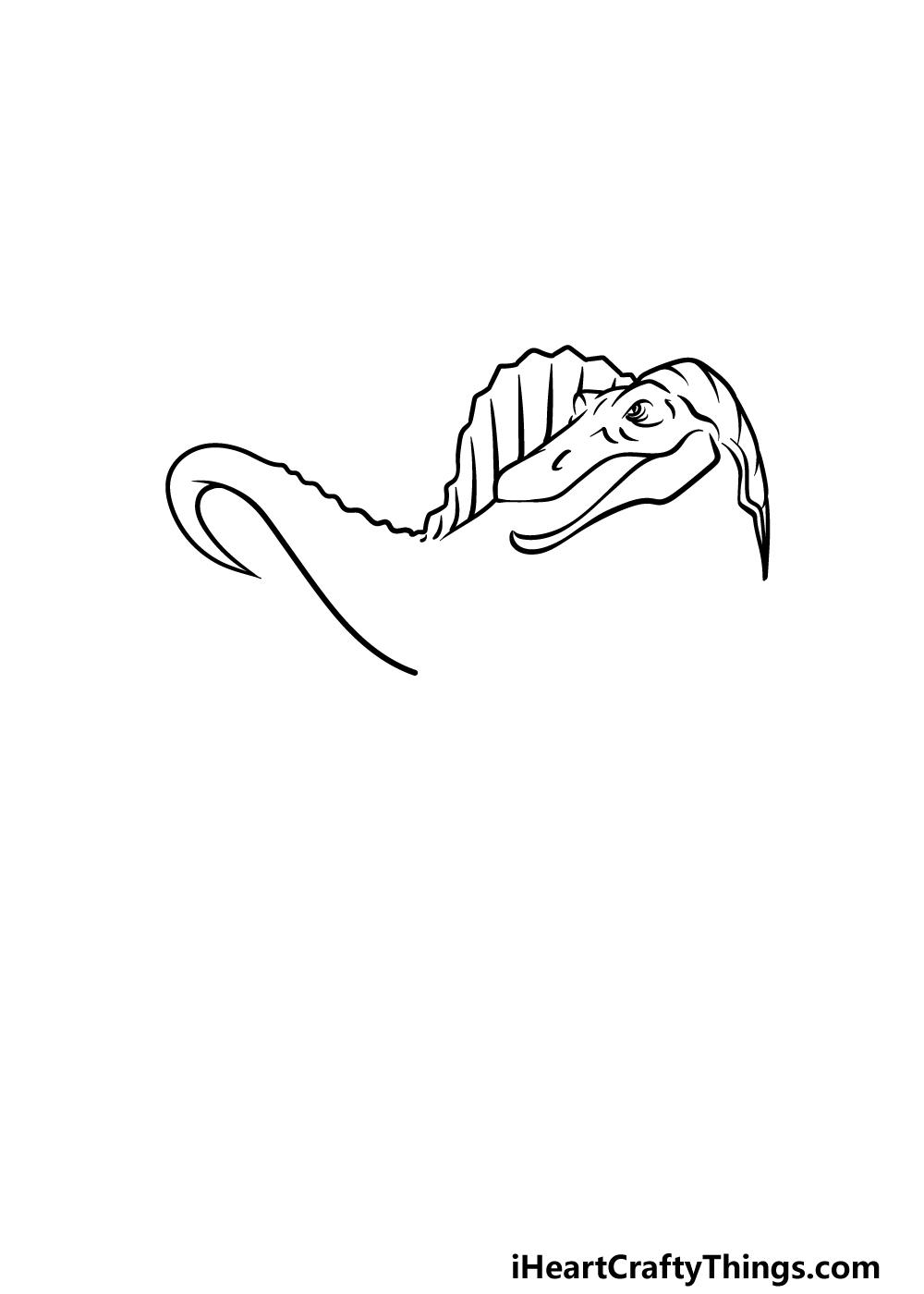 drawing Spinosaurus step 3