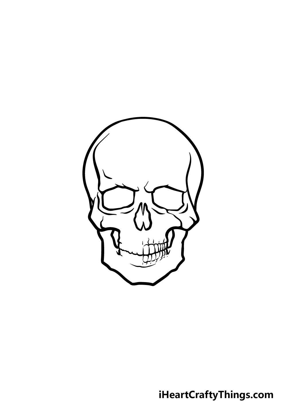 drawing a skeleton head step 3