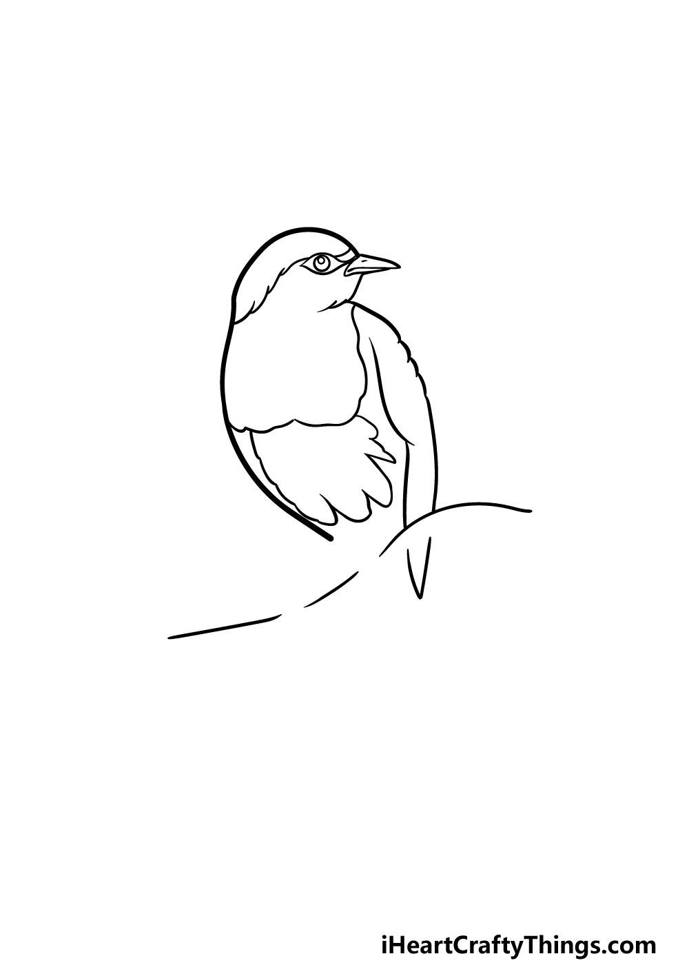 drawing a robin step 3