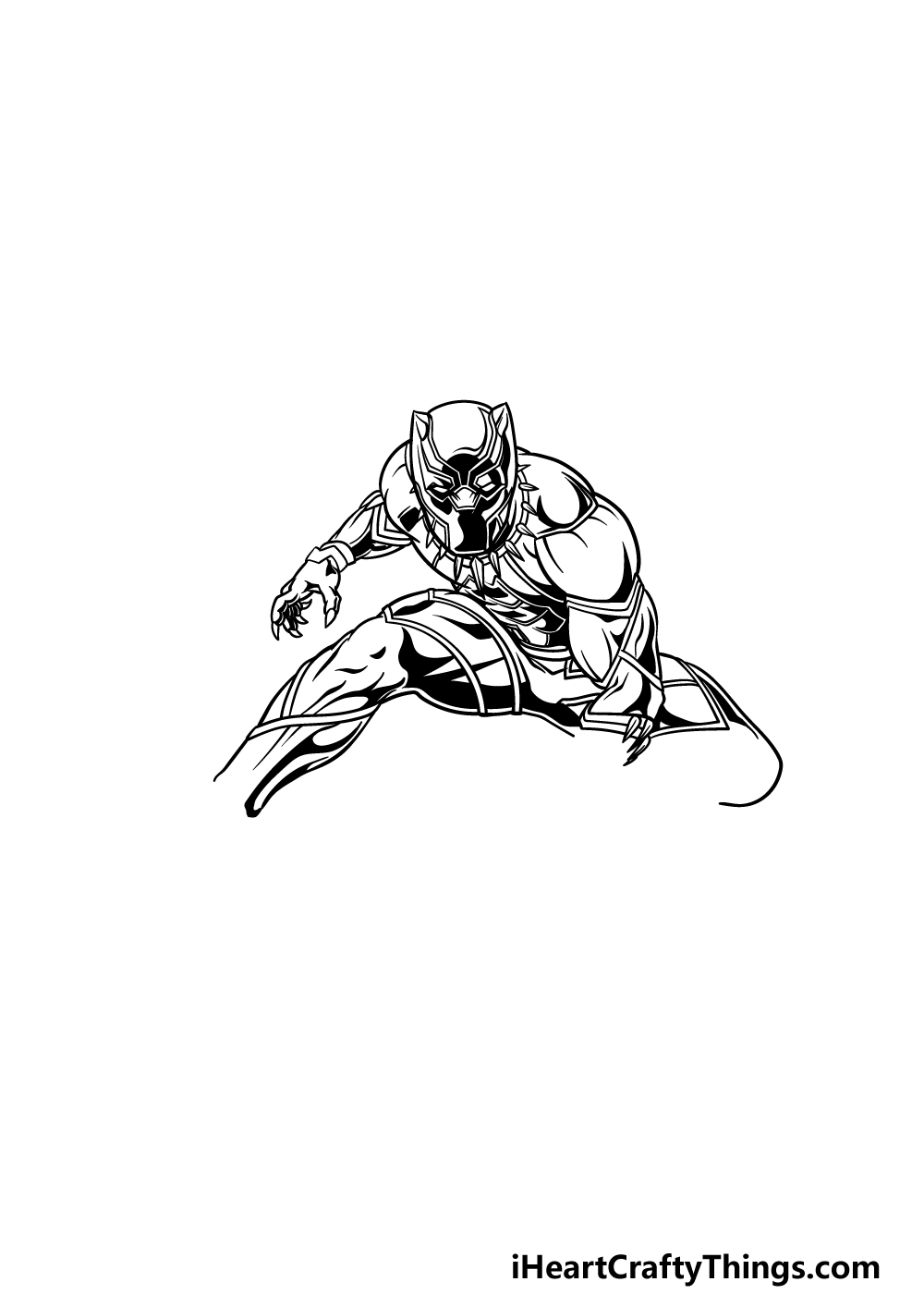 drawing Black Panther step 3