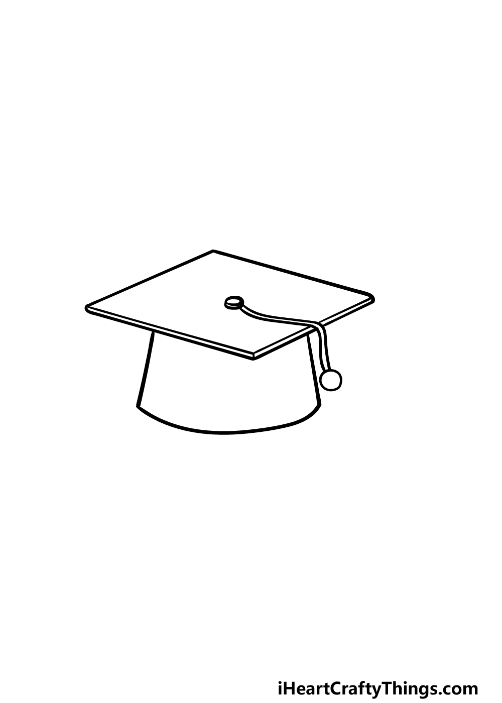 drawing Graduation Hat step 3