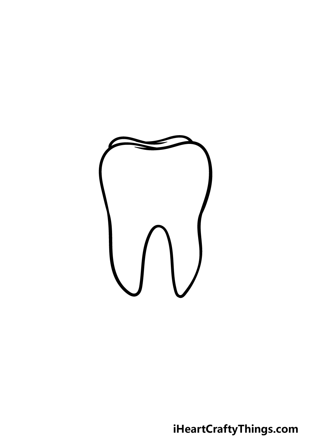 drawing a tooth step 3