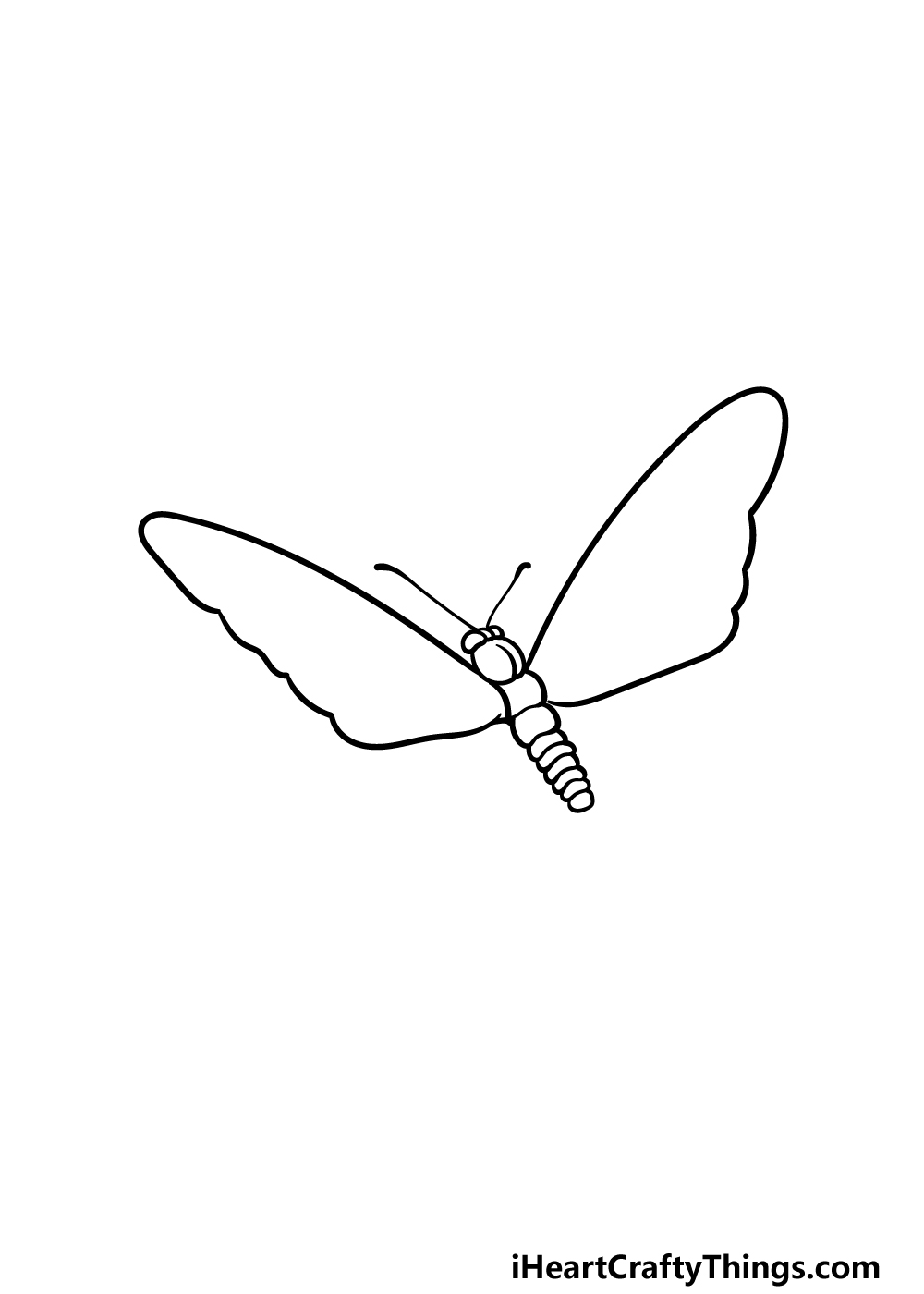 drawing  Monarch Butterfly step 3