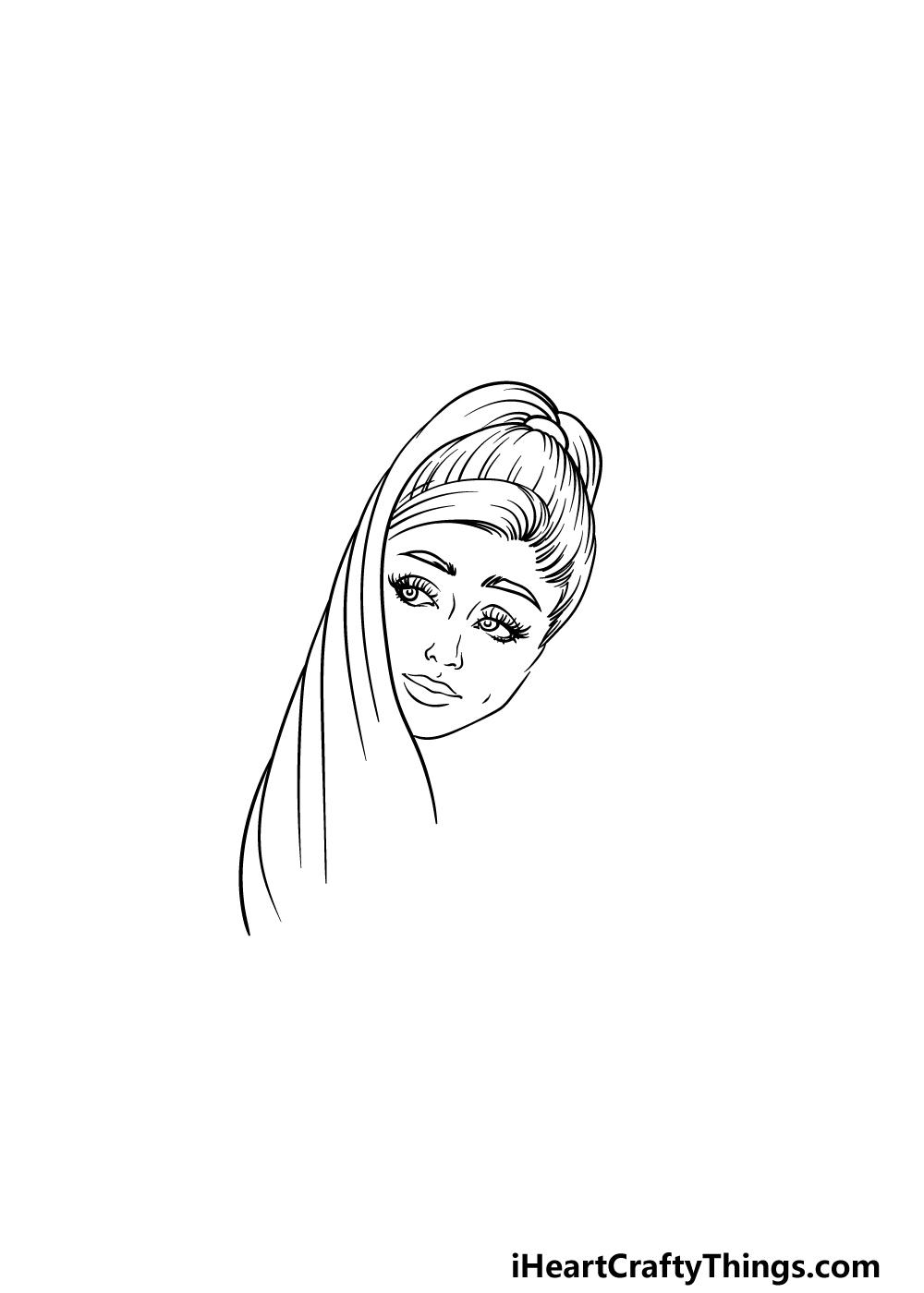 drawing Ariana Grande step 3