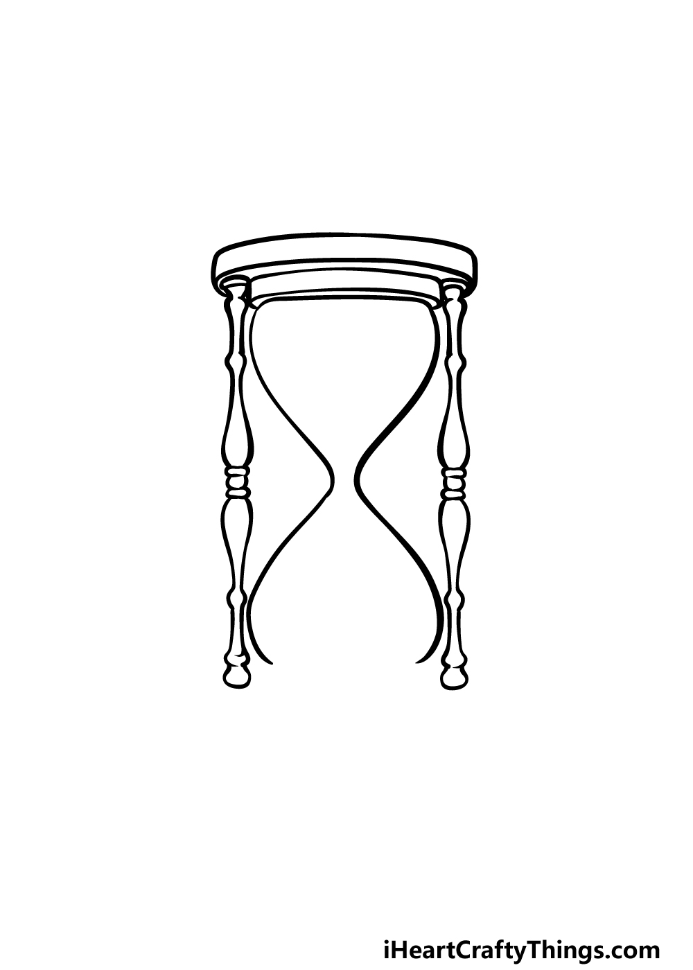 drawing an hourglass step 3