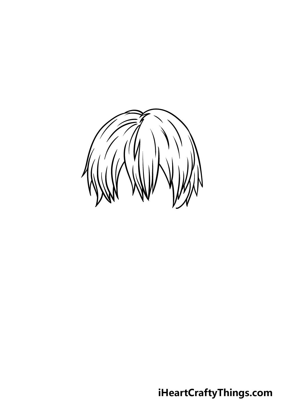 How To Draw Todoroki step 3