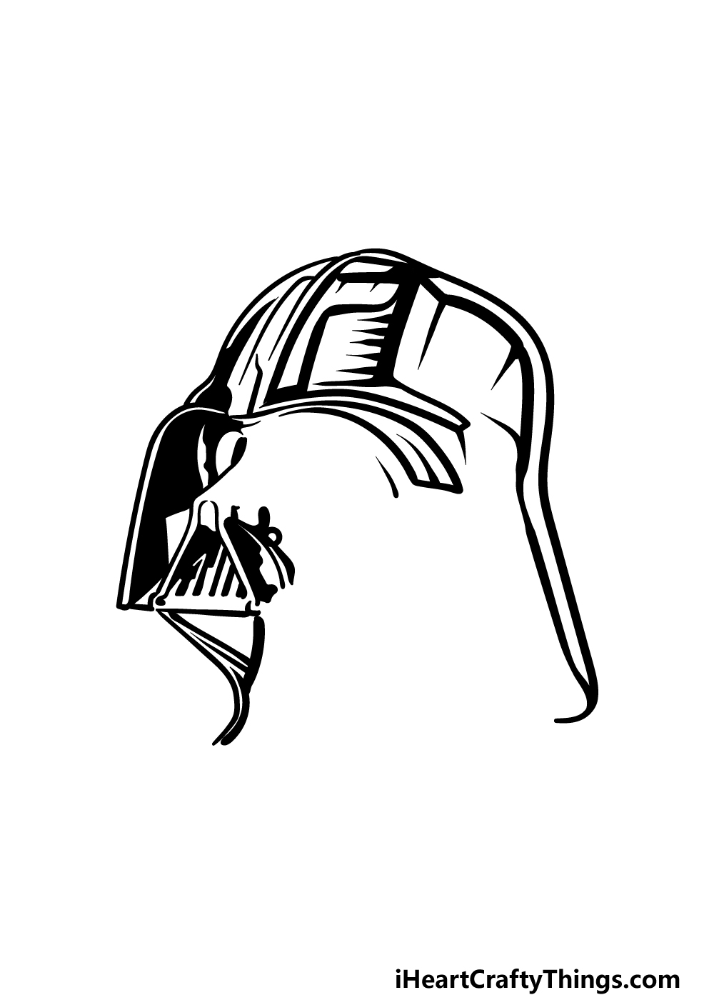 drawing Darth Vader step 3