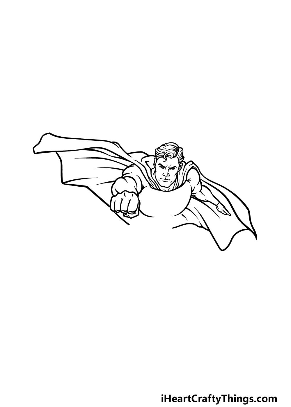 drawing Superman step 3