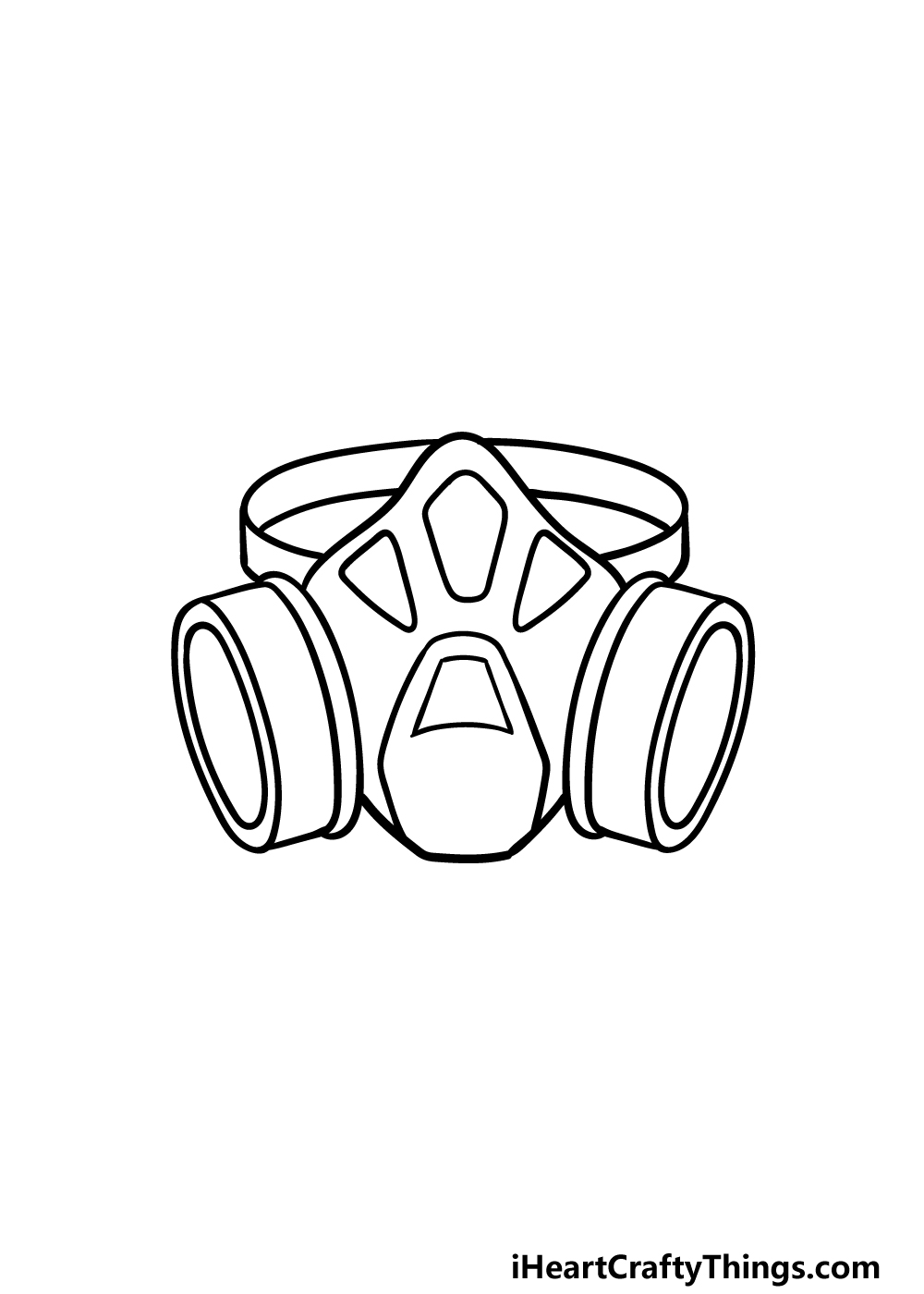 drawing Gas Mask step 3