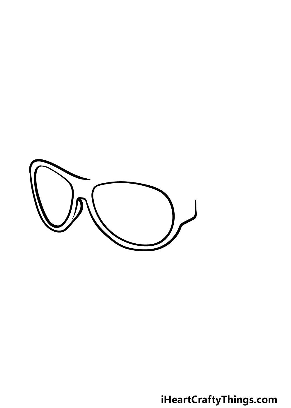 drawing sunglasses step 3