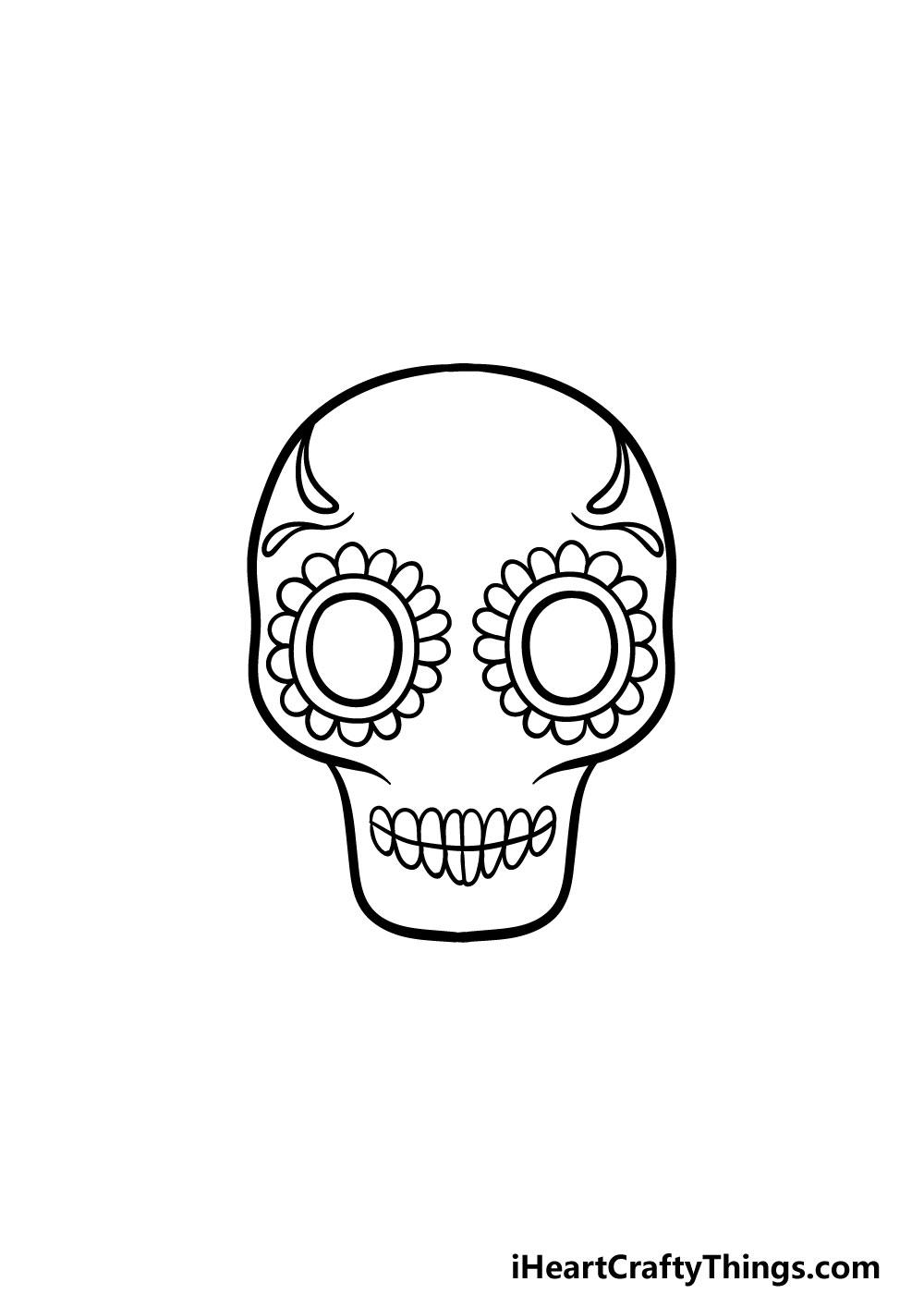drawing a sugar skull step 3