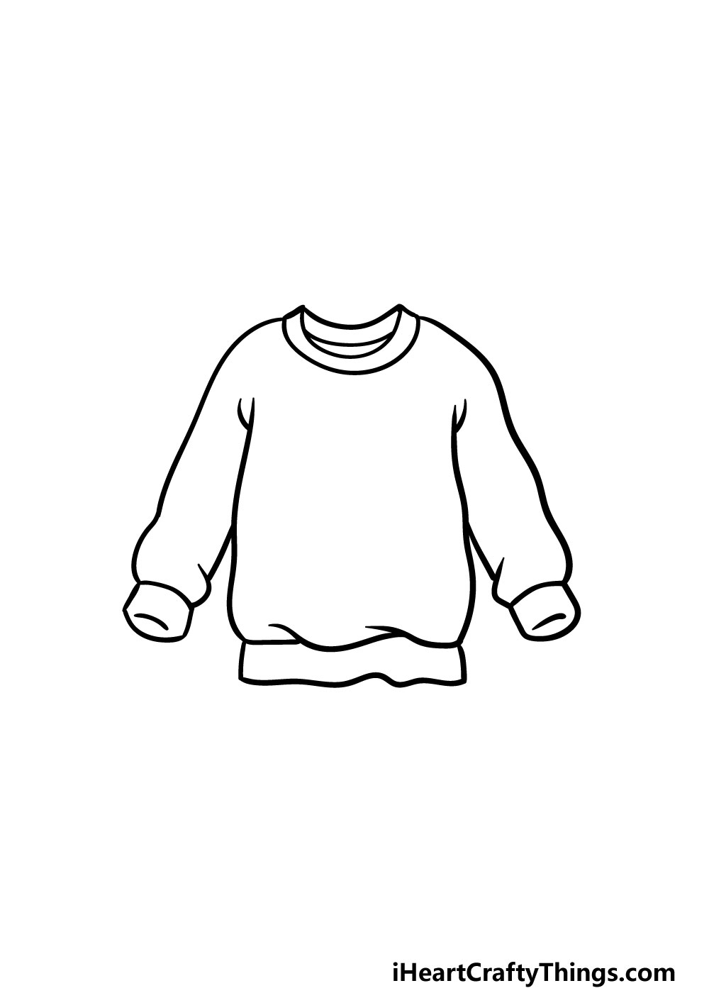 drawing a sweater step 3