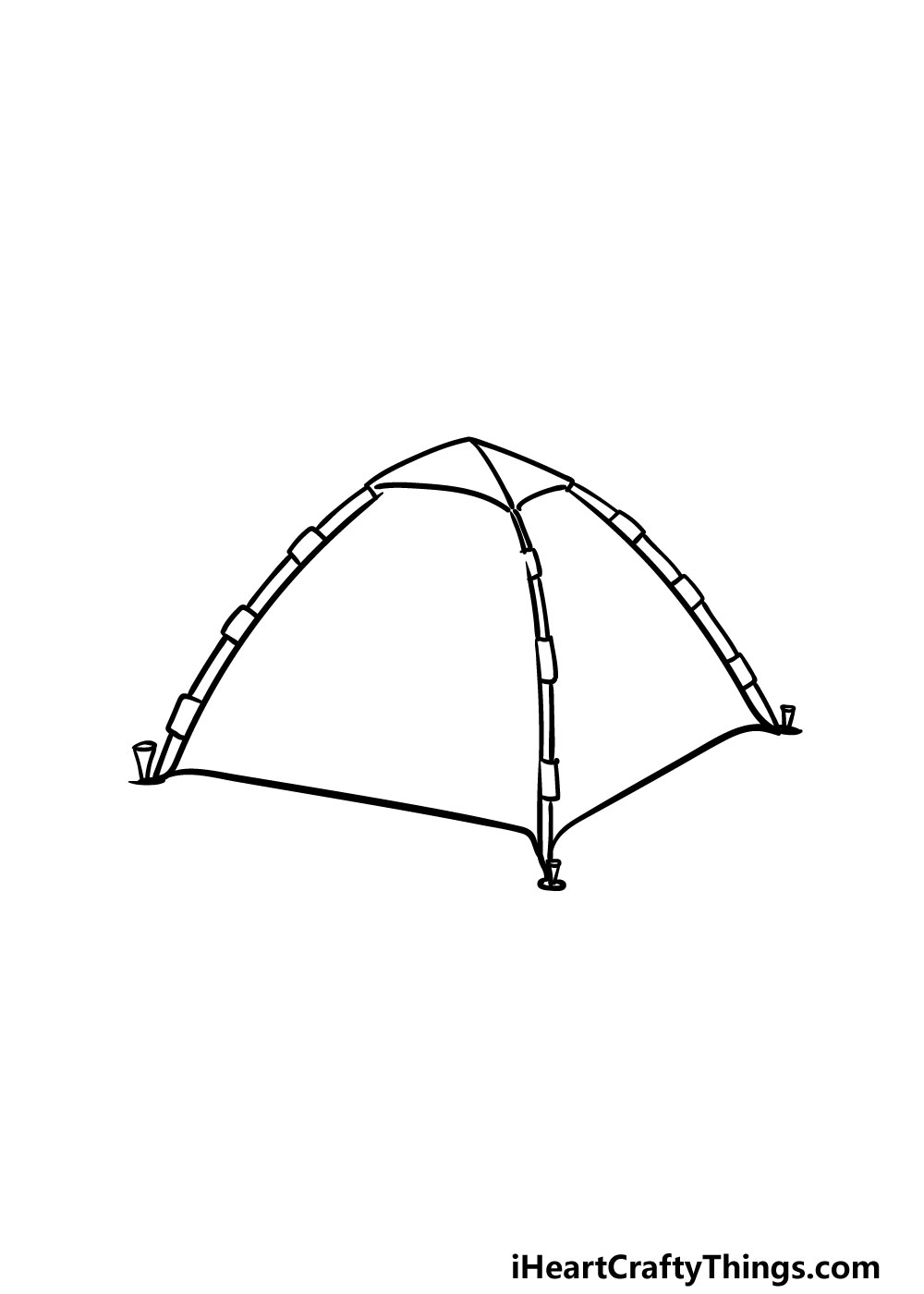 drawing a tent step 3