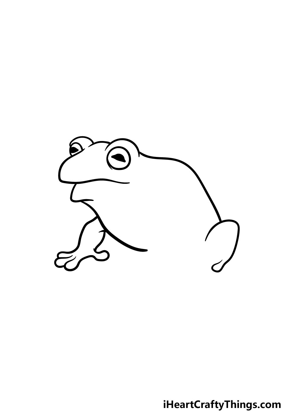 drawing a toad step 3