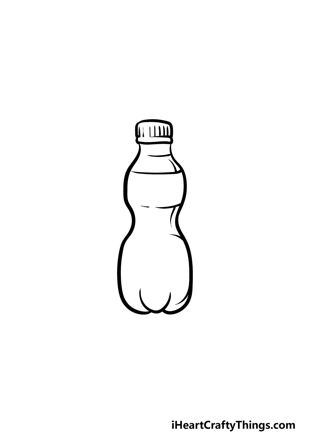 drawing a water bottle step 3