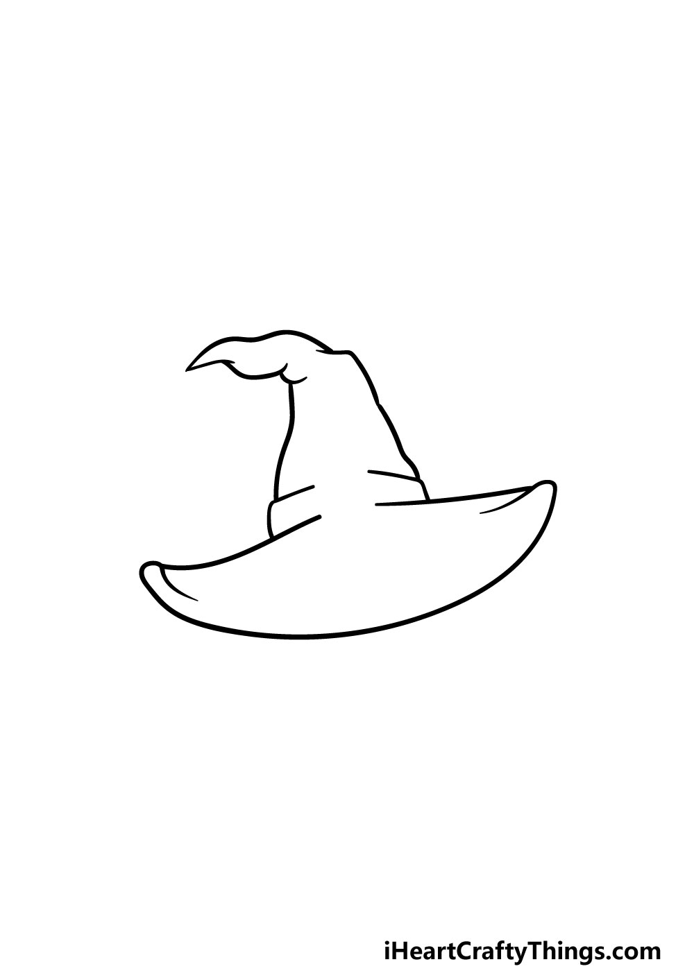 drawing a witch hat step 3