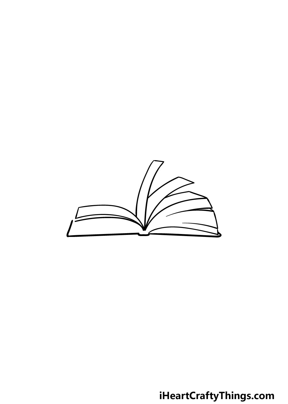 drawing an open book step 3