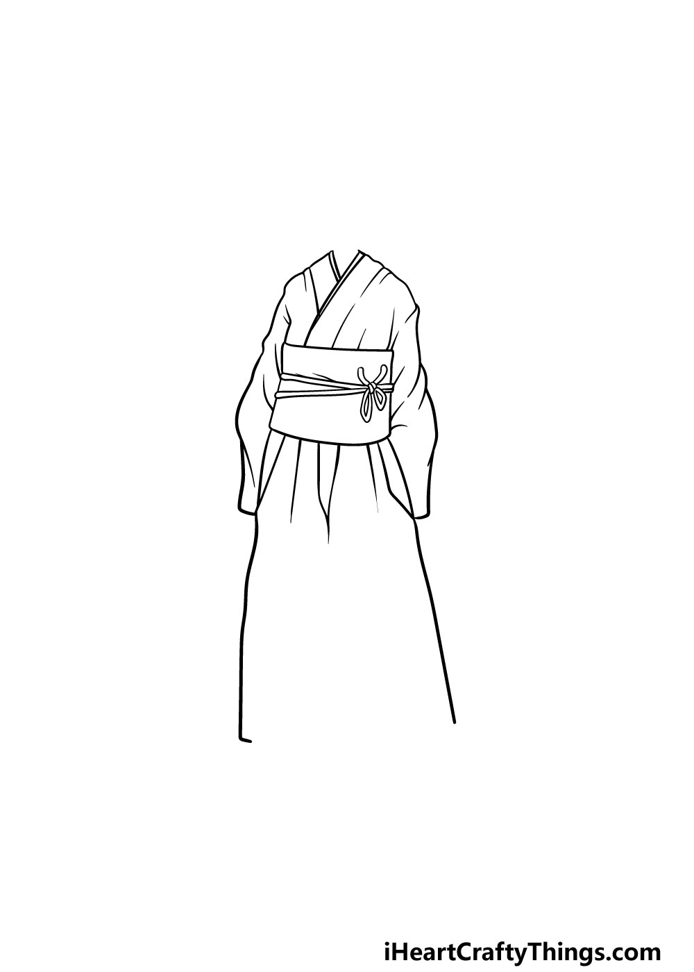 drawing anime clothes step 3