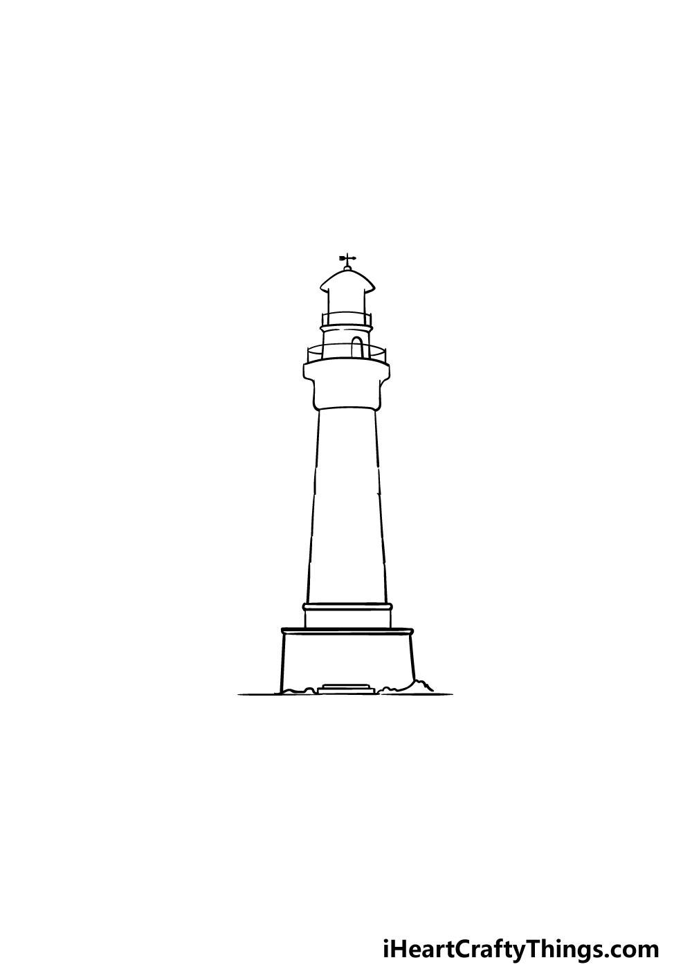 vẽ ngọn hải đăng bước 3
