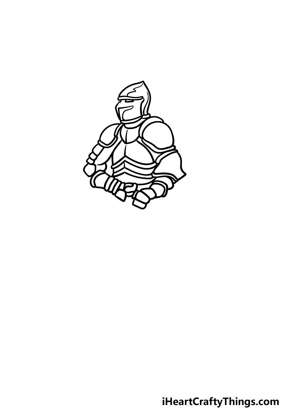 drawing armor step 3