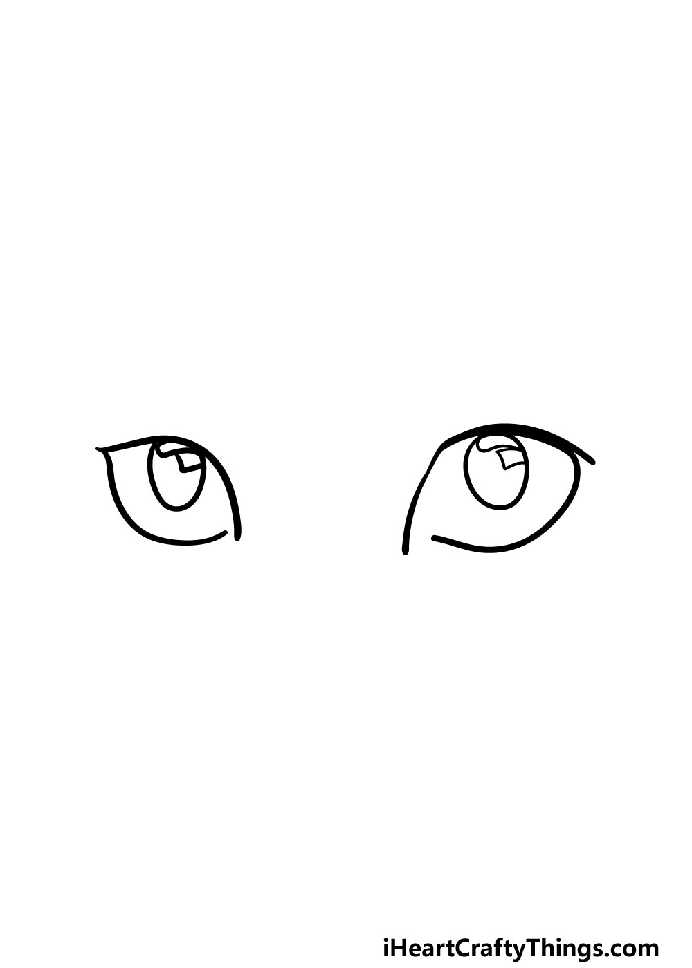 drawing cat's eyes step 3