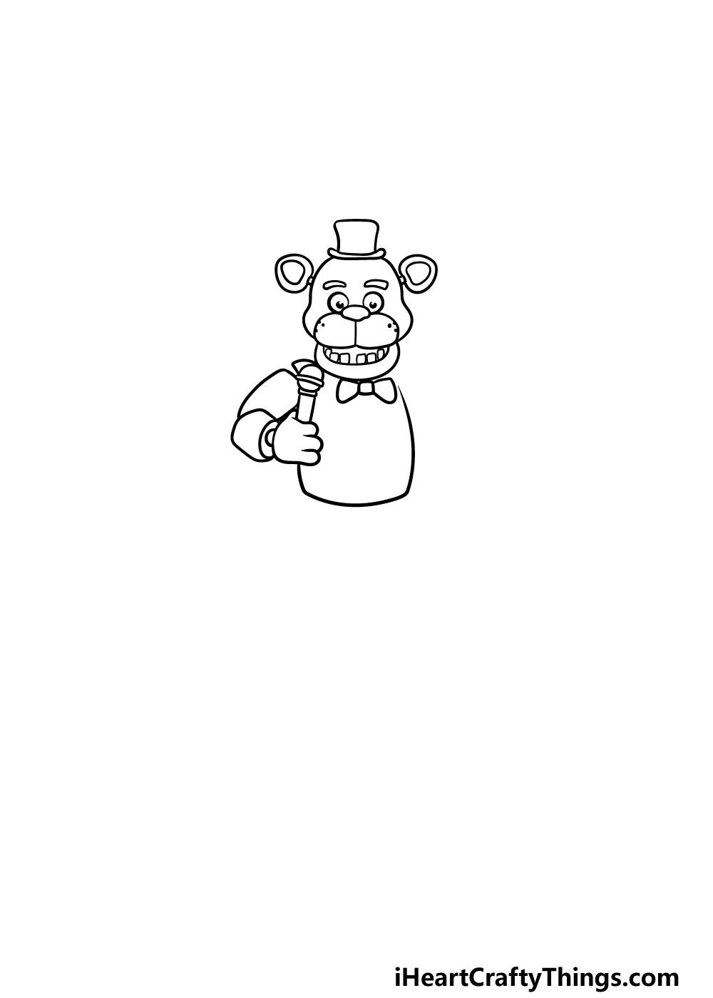 drawing Freddy Fazbear step 3