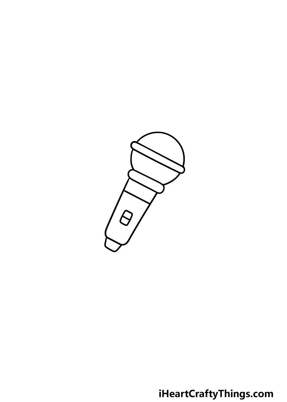 drawing a microphone step 3