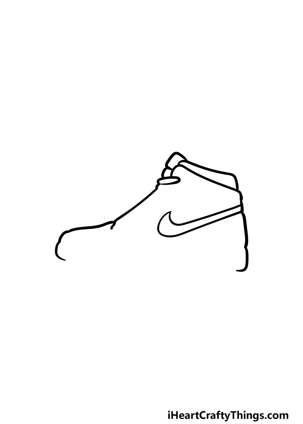 drawing air jordan shoes step 3