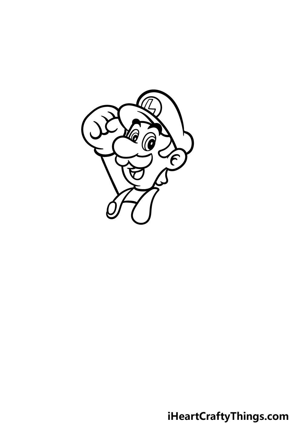 drawing luigi step 3