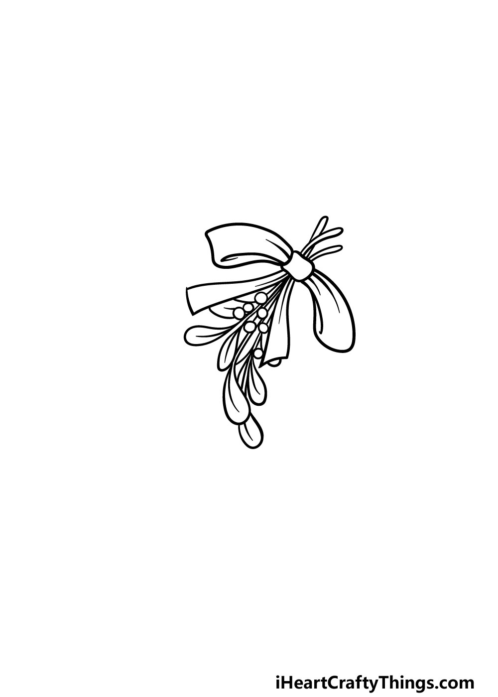 drawing a mistletoe step 3