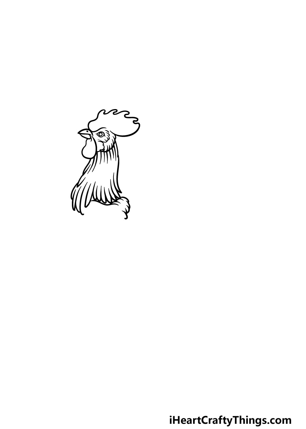 drawing a rooster step 3