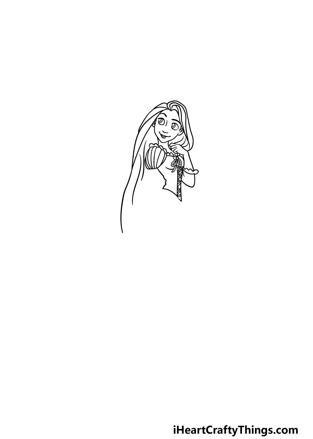 drawing Rapunzel step 3