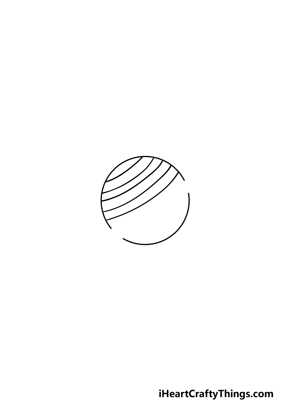 drawing Saturn step 3