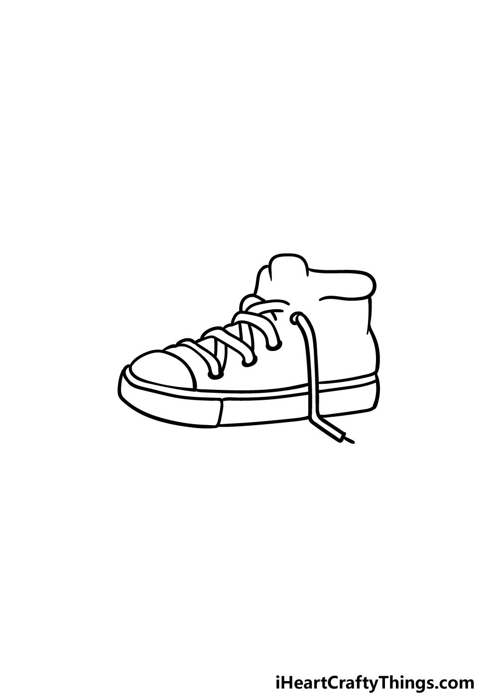 drawing sneakers step 3