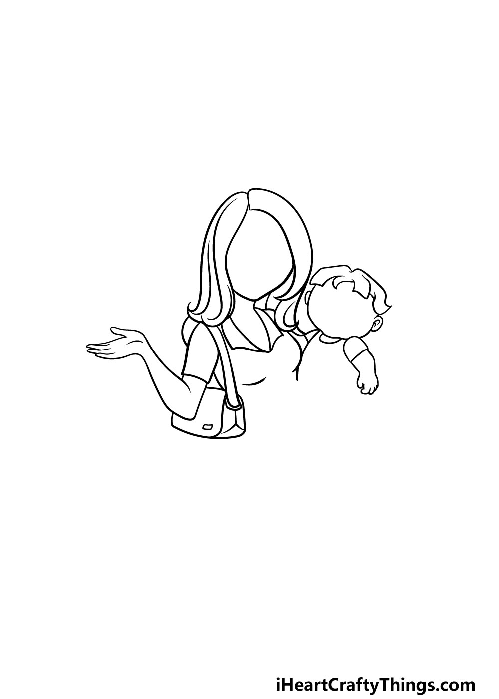 drawing a mom step 3
