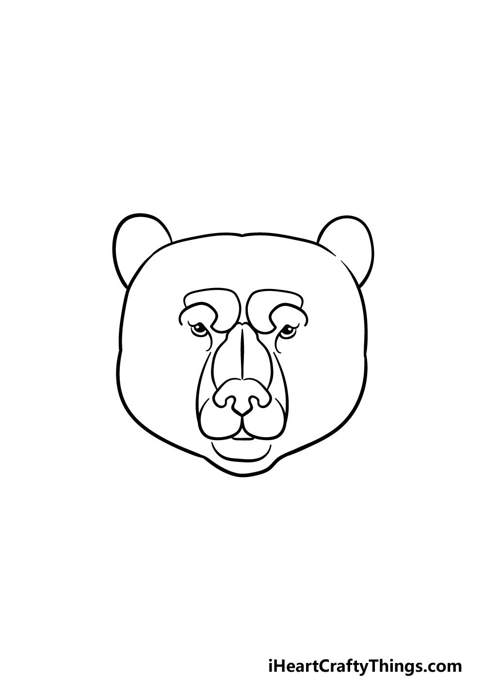 drawing a bear face step 3