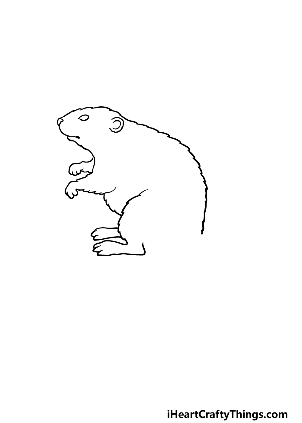 drawing a beaver step 3
