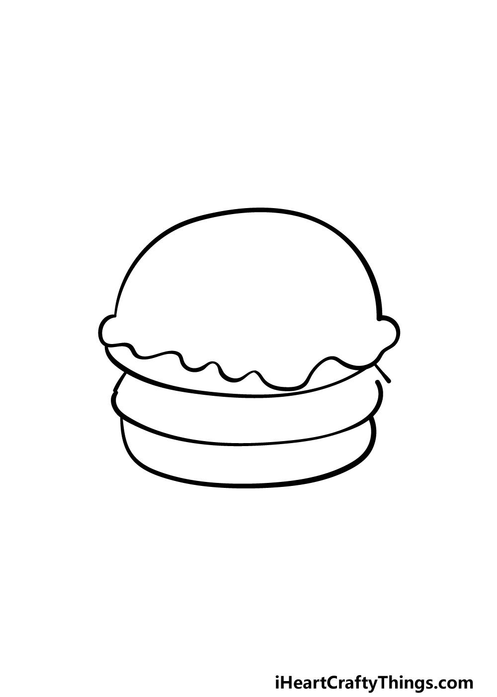drawing a burger step 3