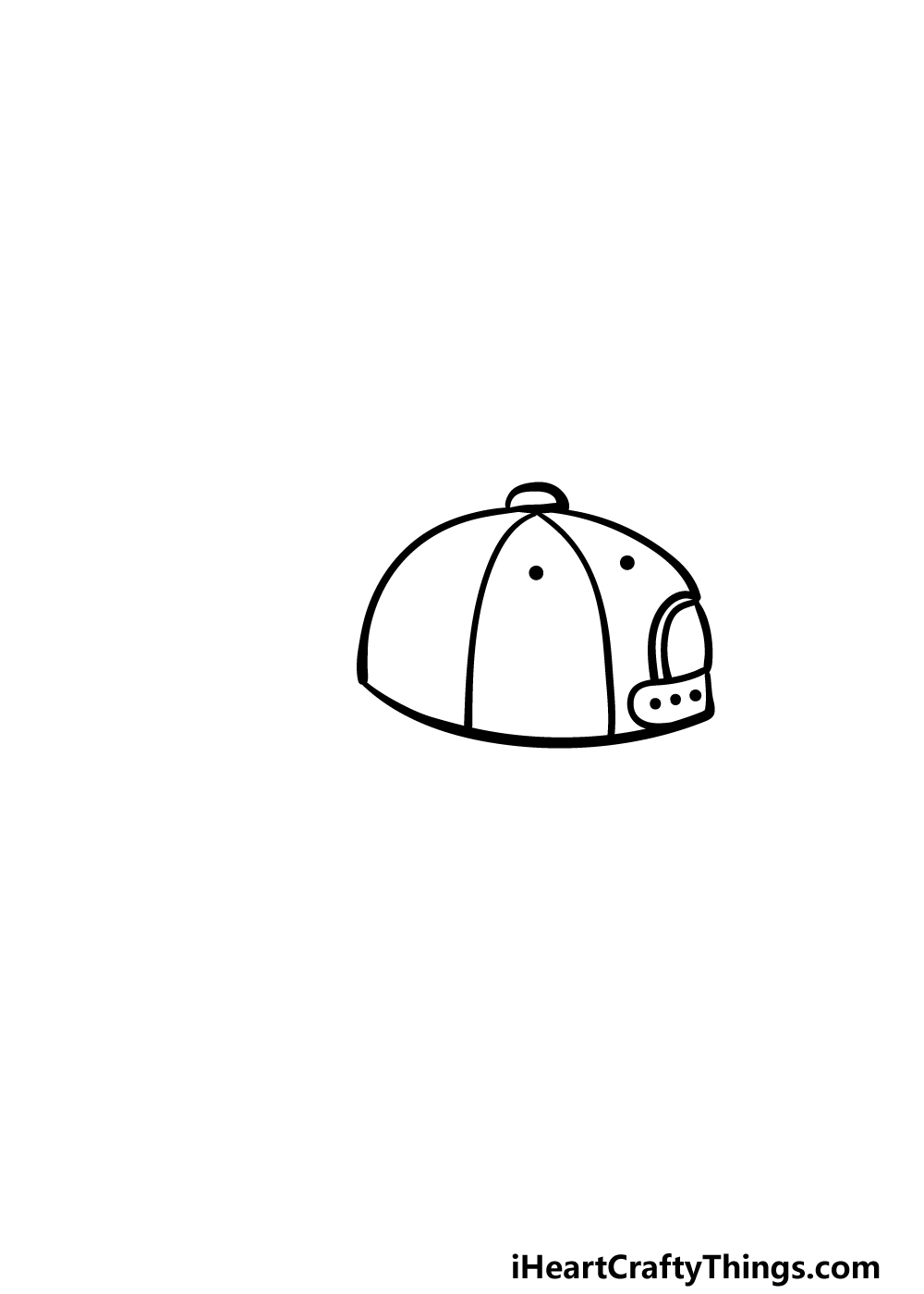 drawing a cap step 3
