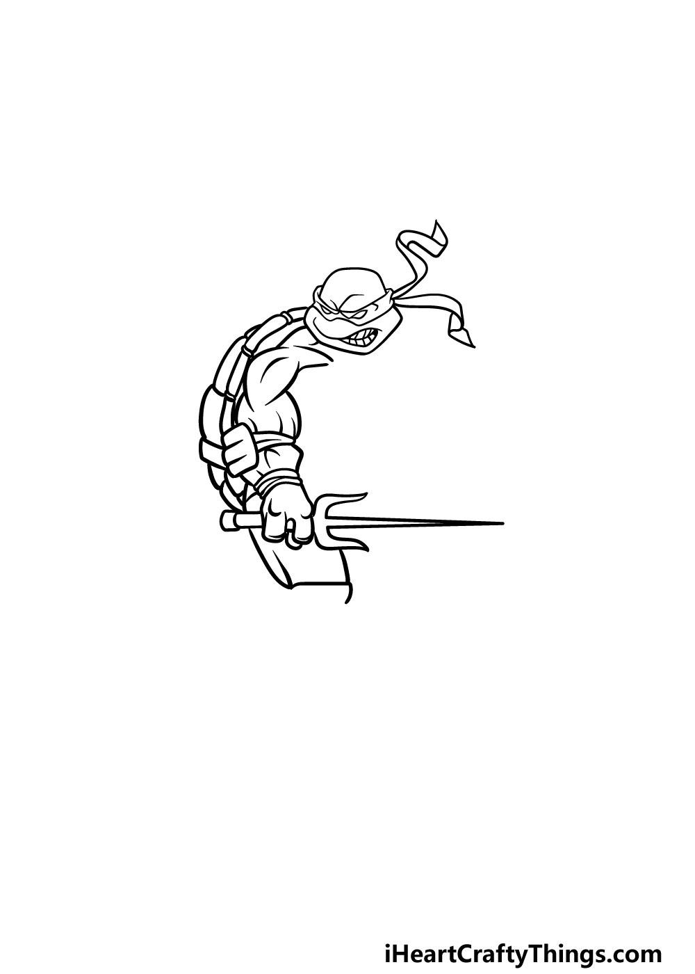 drawing ninja turtles step 3