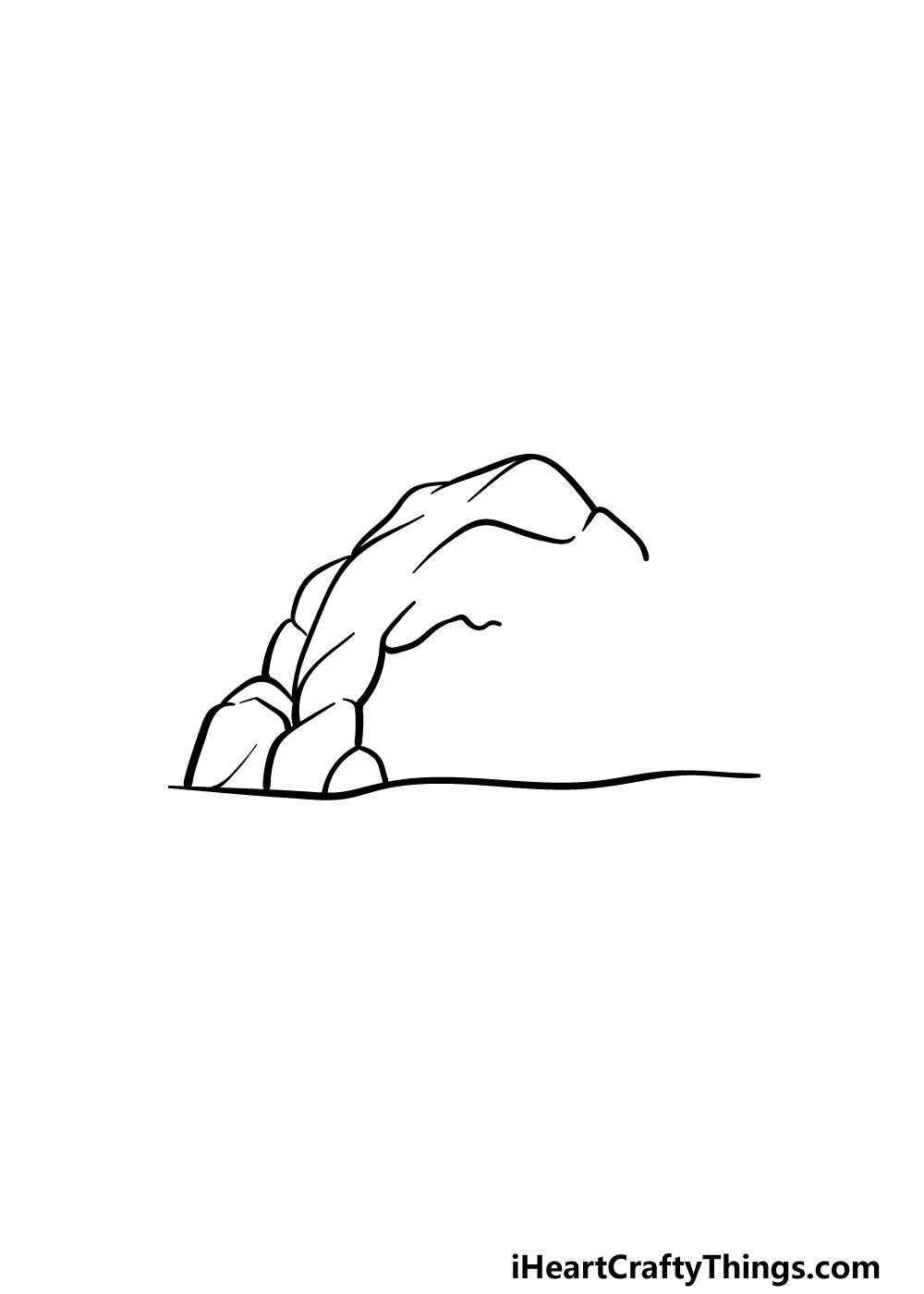 drawing a cave step 3